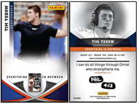 Exclusive Tim Tebow trading card for Everything in Between DVD